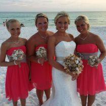 Coral & Burlap Beach Wedding Destin, Fl June 21, 2013
