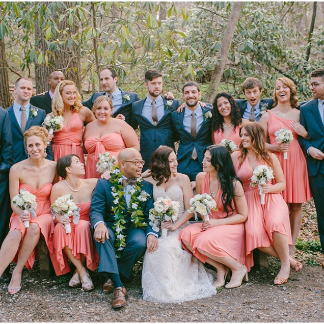 Coral And Navy Wedding – Images Free Download
