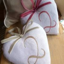 Cotton 2nd Wedding Anniversary Heart By Follie By Josie Rossington