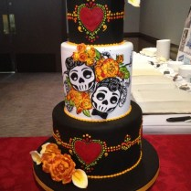 Day Of The Dead Wedding Cake Real Weddings Articles