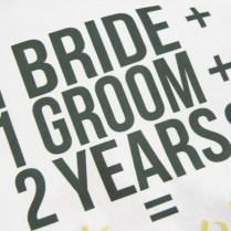 Diy 2nd Wedding Anniversary Cotton Gift Bag