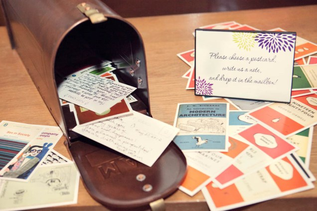 Diy Postcard Guest Book With Mailbox Travel Themed Wedding