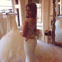 Dream Wedding Dress Tight Fitted, Long Train Beautiful Back