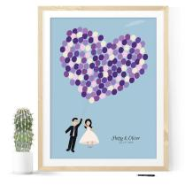 Engagement Signing Book As Wedding Guestbook Wedding Sign Book