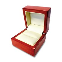 Engraved Mahogany Wood Ring Box Personalized Wooden Wedding Ring Box