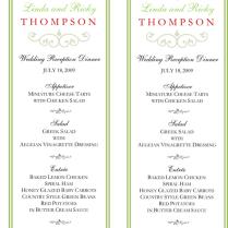 Incredible Wedding Buffet Menu Menus For Buffet Style Dinner