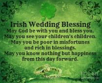 Irish Wedding Blessing Mindy Bench