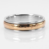 James Avery 14k Yellow Gold And Sterling Silver Hammered