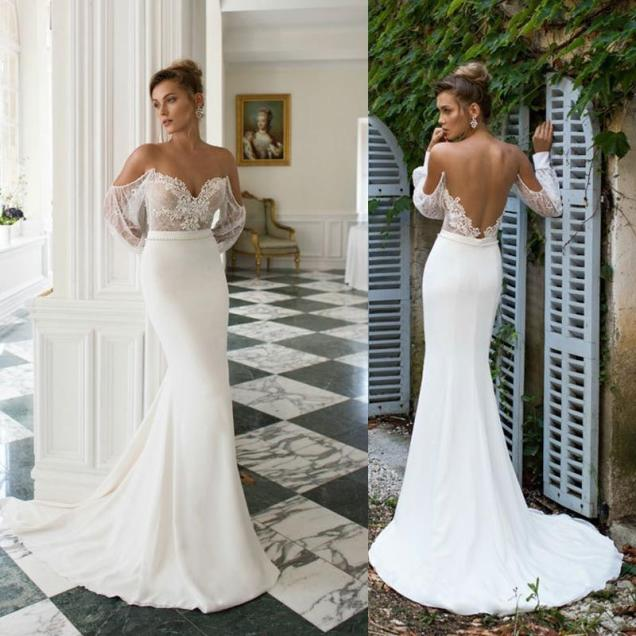 Lace Fitted Wedding Gowns