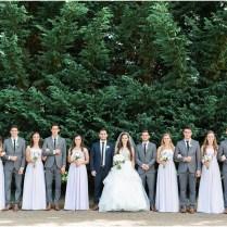 Lavender And White Estate Wedding