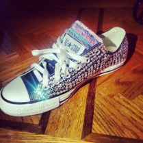 Made These Myself For Wedding! Bedazzled Converse!