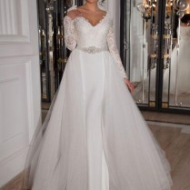 Mermaid Wedding Dress With Removable Train