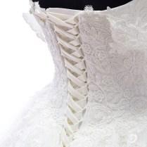 Mzyw0072 Off Shoulder Sweetheart Neckline Top Lace Applique