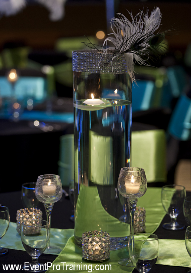 Peacock Themed Wedding Centerpieces