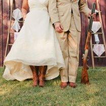 Outdoor Wedding Lace Decor Country Western Bride Groom