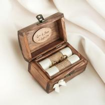 Personalized Wedding Ring Box Wooden Ring Box Ring Holder With