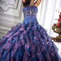 Pictures Blue And Purple Wedding Dress 82