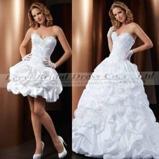 Piece Wedding Dress With Detachable Skirt