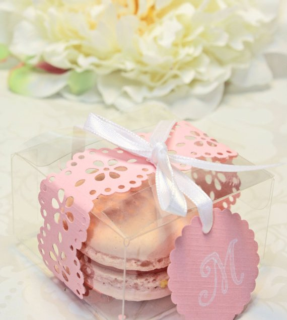 Pink Macaron Favor Box Wedding Favor Boxes Set Of 30 Favor