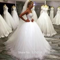 Popular Crystal Bling Ball Gown Wedding Dress