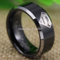 Popular Stones Superman Wedding Band