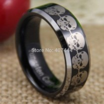 Popular Tungsten Skull Ring