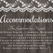 Printable Wedding Invitation Accommodations Card 3 5x5