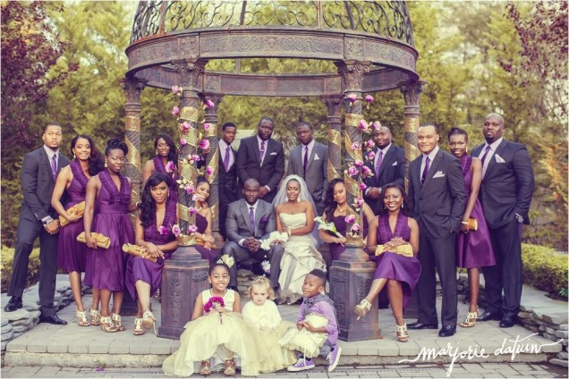 Purple And Gold Wedding Dresses