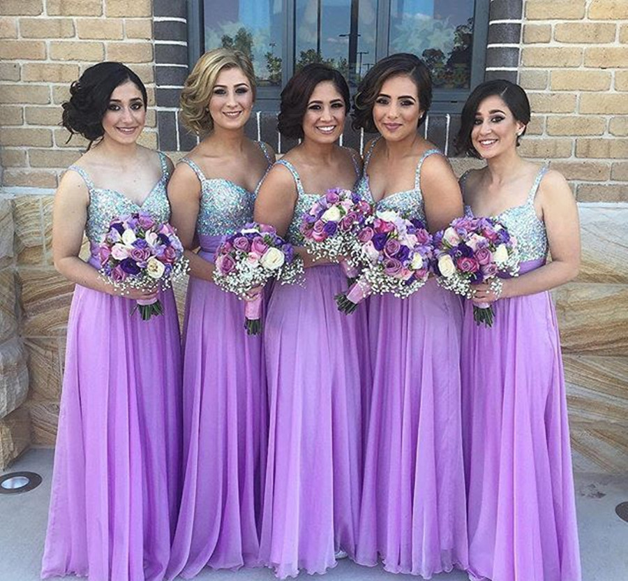 Purple And Silver Wedding Party