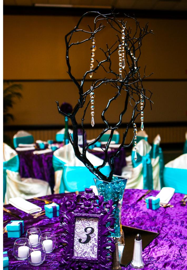 Amazing Purple And Turquoise Wedding Centerpieces Home Interior And Landscaping Synyenasavecom