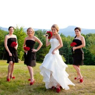Red & Black Wedding Album Maine Wedding Photographer