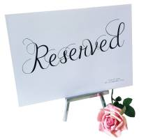 Reserved Wedding Sign By Made With Love Designs Ltd
