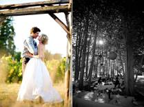 Revi's Blog Bride And Groom Kiss Under Wood Wedding Arch Casual