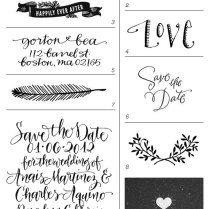 Rubber Stamps Wedding