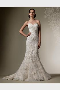 Strapless Fitted Lace Wedding Dress Naf Dresses