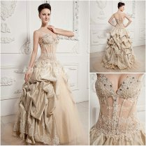 Sweetheart Ball Gown Champagne