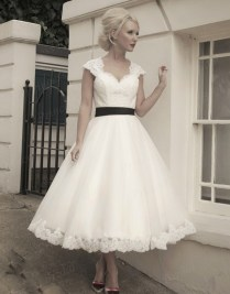 Tea Length Vintage Wedding Dresses