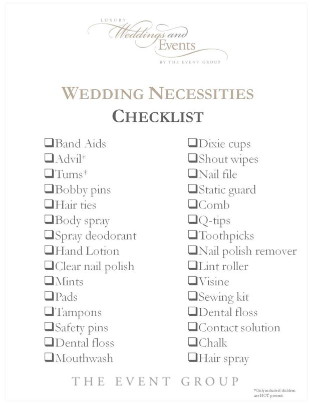 The Wedding Checklist Every Bride And Bridesmaid Needs