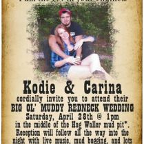Top Collection Of Redneck Wedding Invitations