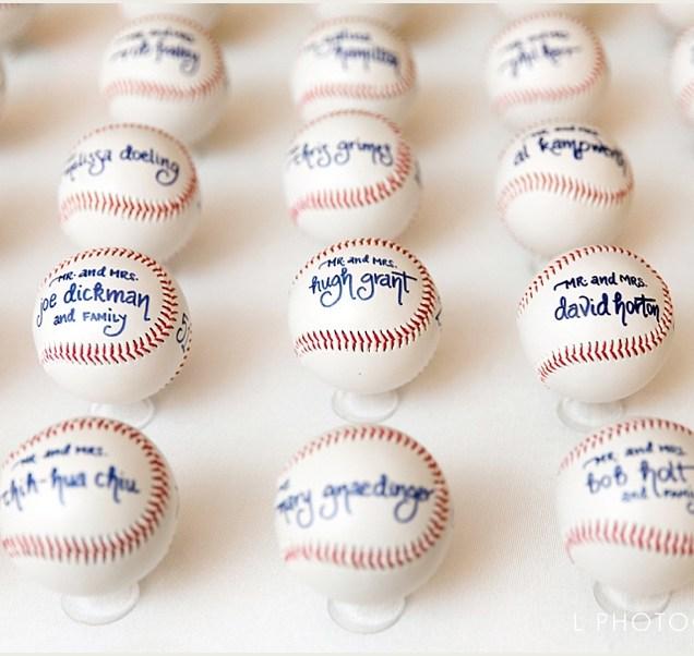 Baseball Themed Wedding Favors