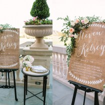 Vintage Inspired Wedding Welcome Sign On Reclaimed Wood Planks