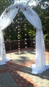 Wedding Arch With Butterfly, Crystal And Flowers
