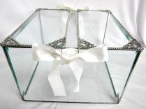Wedding Card Box, Wedding Card Holder, Glass Wedding Card Box, Bar