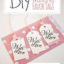 Wedding Favor Tags With Love Luggage Tag Printable