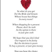 Wedding Gift Poems Asking For Honeymoon Money 50 Small Wedding