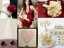 Wedding Inspirations Cranberry And Ivory