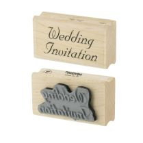Wedding Invitation Rubber Stamps