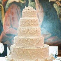 12 Six Tier White Wedding Cakes Photo