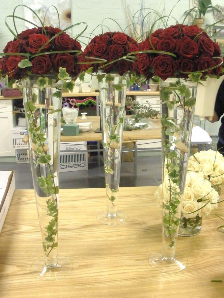 Tall Vase Arrangements Wedding