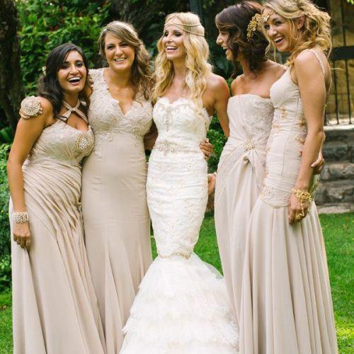 Tan Colored Wedding Dress